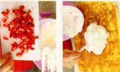 Rulada cu frisca, ciocolata alba si capsuni - Reţete culinare de la A la Z Grains, Food, Essen, Meals, Seeds, Yemek, Eten, Korn