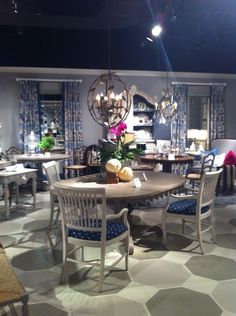 William Yeoward collected... Dining room at Jonathan Charles Fine Furniture