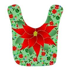Christmas Adornments Bib - so cute for Christmas dinner with the baby