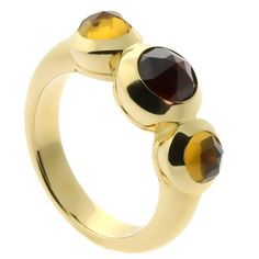 Tiffany & Co. Citrine Garnet Gold Ring