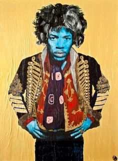 Jimi Hendrix in Gold from The Smoking Series by Michael Houghton