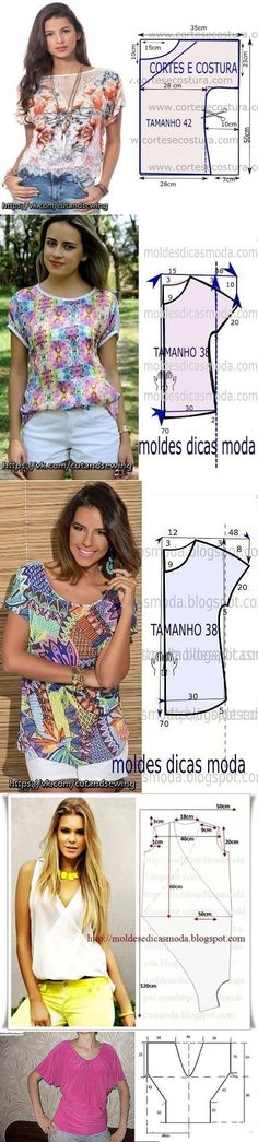 """Ideas for sewing for the summer, a simple cut // Таяღ•°˜""""*°•.♥.• Туман✔"""