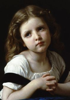 """The Prayer"" (detail), 1865, William-Adolphe Bouguereau."