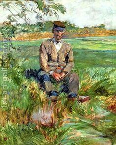 A Laborer At Celeyran by Henri De Toulouse-Lautrec