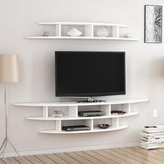 unit design Living Areas Alvino Wall Mounted TV Unit Freestanding White Mode… – Wall units – Home Decor Home Room Design, Wall Mounted Tv Unit, Wall Mounted Tv, Modern Tv Wall Units, Tv Room Design, Living Room Design Modern, Living Room Tv Unit Designs, Living Room Tv Wall, Living Room Designs