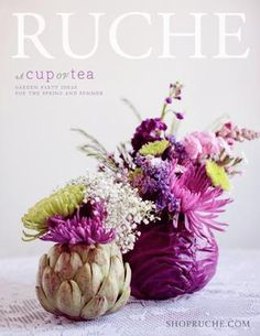 Great idea - Artichoke & cabbage w/ center cut out and flowers added.