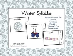 Winter Syllables $3.00