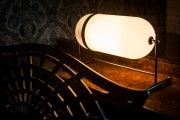 Fritz Fryer Aston Lantern Table Lamp Retro Lighting, Antique Lighting, Industrial Lighting, Modern Industrial, Modern Lighting, Lighting Design, Glass Pendant Light, Pendant Lighting, Chandelier