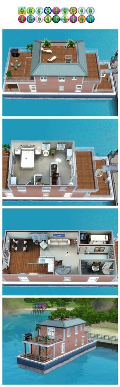 Sims 3 Finds - Edie's houseboat by Jordan at Poppy Sims