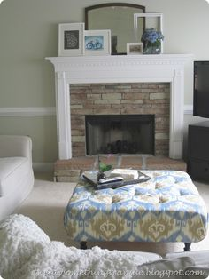 DIY tufted ottoman from scratch...been looking for something like this
