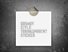Looking for that grungy little sticker to incorporate into your design. Today's goodie offers a fully scalable grungy sticker that can be used notes and/or photos.