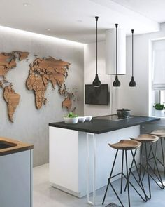 """@yohomeau on Instagram: """"You would be left with #wanderlust every day with a kitchen wall like this Would you put this in…"""""""