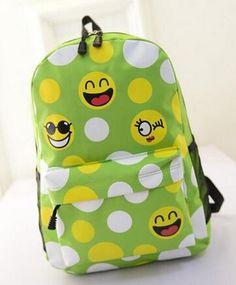 New 2016 Women Emoji Printing School Bags Children Canvas Backpacks For Teenager Girls Casual Laptop Backpack Mochila Feminina