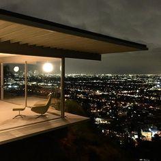 glittering LA lights at the stahlhouse via flackstudio- hillside, home, classy