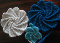 Crochet flowers are very pretty and can be used for many things , like embellishments on a headband a hat or attached to a pin and adorn a scarf. They are quick and easy to make.