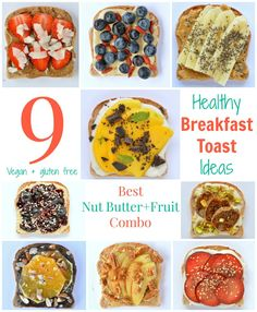 Breakfast Toast, Breakfast On The Go, Vegan Breakfast, Breakfast Ideas, Breakfast Time, Vegan Gluten Free, Vegan Vegetarian, Vegetarian Recipes, Vegan Meals