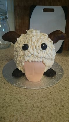 Homemade League of Legends Poro Cake