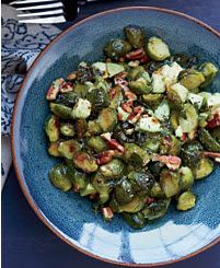 Delicious #BrusselsSprouts with pecans and avocado. #healthyrecipes