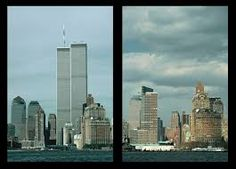 Image result for before and after photos of twin towers