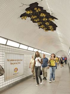 Subway ad...Bet you can't look just once? A Lays Potato advertisement in Toronto, Canada.