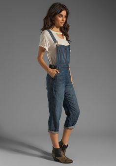 db871ee5949 Cropped Overalls in Rivington - Lyst Slouchy Pants