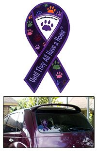 Until They All Have a Home ™ Ribbon Window Cling at The Animal Rescue Site