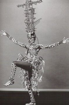 Grace Jones painted by Keith Haring, photo by Robert Mapplethorpe, 1984