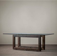 This Reclaimed Wood & Zinc Strap Dining Table From Restoration Pleasing Restoration Hardware Dining Room Sets Review