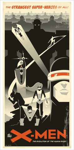 """X-Men"" art deco inspired poster"