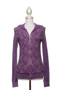 Dressing Your Truth - Type 2 Lace Layer Hoodie in Lilac