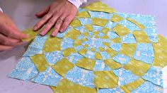 Strömsö: Tilkkutyö spiraalipujottelulla. Kuva: Strömsö, Yle Picnic Blanket, Outdoor Blanket, Sewing Hacks, Inspire Me, Applique, Quilts, How To Make, Crafts, Inspiration