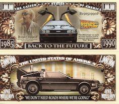 Back to the Future Million Dollar Novelty Money