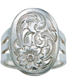 I LOVE THIS!!!!! Bright Cut Silver Concho Ring by Montana Silversmiths