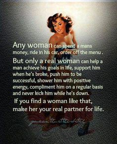 I am one - mostly!  ;)  #AGoodWoman #LifePartner