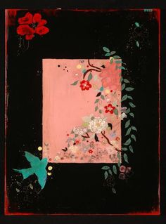 Kathe Fraga paintings on frescoed canvas. www.kathefraga.com Inspired by vintage Paris and chinoiserie ancienne.