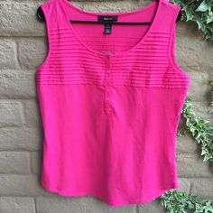 "Style & Co long bright pink blouse. Style & Co blouse. NWT Under arm to under arm 20"". Neck to bottom hem 23"".  Brand new condition. Style & Co Tops Blouses"