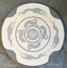 Italian Greyhound decorative ceramic plate by Malens Ceramics