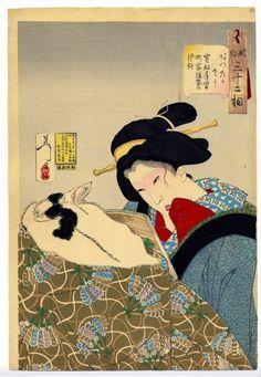 「芳年 猫」の画像検索結果