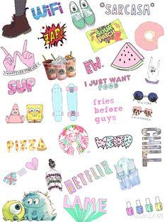 original by me Tumblr Stickers, Phone Stickers, Cute Stickers, Planner Stickers, Cute Wallpaper For Phone, Tumblr Wallpaper, Iphone Wallpaper, Image Tumblr, Cartoon Painting