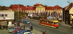 The Long Road postcard from Bratislava / Pozsony / Pressburg, capital city of Slovakia / Slovensko, featuring ŠKODA min) + 1202 + Popular, TATRA 603 tram, trucks and others Bratislava, Interesting Buildings, Places Of Interest, Capital City, Homeland, Prague, Old Town, Scenery, Castle