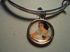 Disney Snow White & The Seven Dwarves silver bangle bracelet by ImAsMADaSaHaTTeR