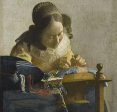 Johannes Vermeer, The Lacemaker (circa 1669-70). Oil on canvas. Musée du Louvre, Paris