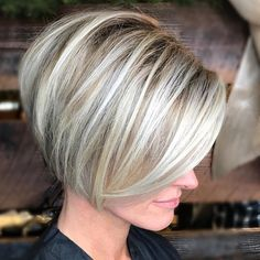 Short-Stacked-Bob Chic Short Bob Haircuts for 2018 Chic Short Bob Haircuts for Bob hairstyles are increasingly being loved by many women all over the world. Stacked Bob Hairstyles, Bob Hairstyles For Fine Hair, Hairstyles Haircuts, Easy Hairstyle, Bob Hairstyles With Fringe Over 50, Hairstyle Ideas, Blonde Short Hairstyles, Wedding Hairstyles, Fringe Hairstyle