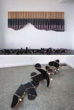 Distorted Sports Equipment: Sculpture and Installations