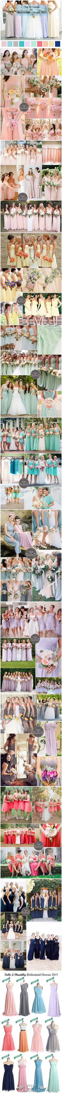 2015 Wedding Color Trends and Ideas - Top 10 Colors for Spring/Summer Bridesmaid Dresses 2015