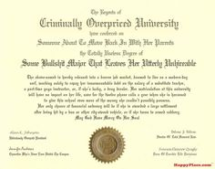 What A Brutally Honest College Diploma Looks Like | Happy Place