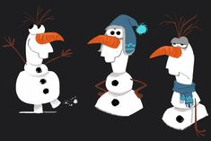 """""""We toyed with putting little accessories on Olaf for a while, like a scarf or a hat, but we did away with that because he's a snowman, and just like Elsa, he doesn't need anything to keep him warm."""""""