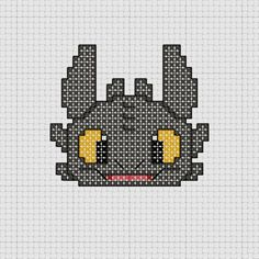 Cross stitch Dreamworks How To Train Your Dragon Toothless pattern.