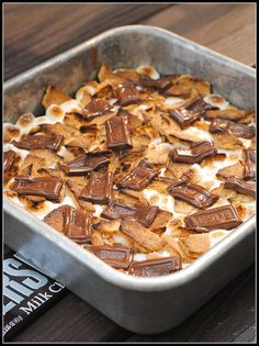 Smores brownies - This looks amazing.