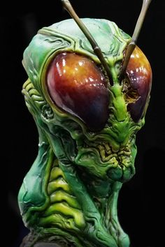 Hopper -- insect man resin bust by Dominic Qwek